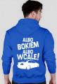 Albo bokiem albo wcale - BMW E46 (bluza męska kapturowa) jasna grafika tył