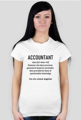 Accountant, definicja księgowej - koszulka,księgowy prezent