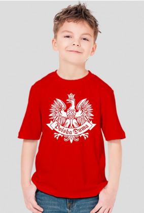 T-shirt Chłopięcy Polska Duma Orzeł Biały