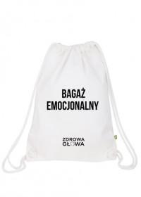 BAGAŻ EMOCJONALNY - plecak worek biały