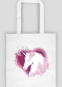 Bawełniana torba na zakupy - Jednorożec w sercu