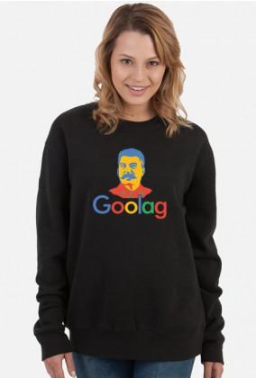 Damska bluza bez kaptura, tani prezent dla programistki - Goolag Stalin (Google)
