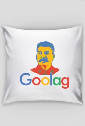 Poduszka z śmiesznym napisem, dobra na tani prezent dla programisty, informatyka - Goolag Stalin (Google)