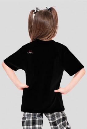 "Koszulka dziewczęca czarna ""63 GANG KIDDO"""