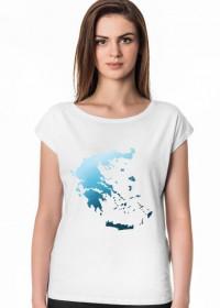 Koszulka damska z mapą Grecji