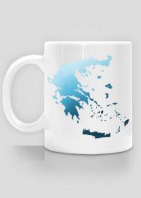 Kubek z mapą Grecji