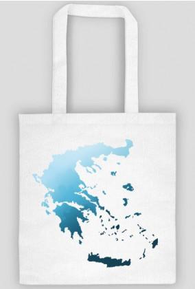 Torba z mapą Grecji