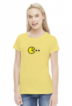 Damski T-shirt Pacman C ++ dla kobiet programistek