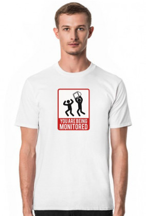 T-shirt uwaga jesteś monitorowany, prezent dla programisty - You are being monitored