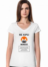 Koszulka, T-shirt na prezent dla programistki i fanki kryptowalut - Nie kupuj Monero!