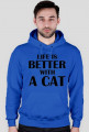 Bluza męska LIFE IS BETTER WITH A CAT