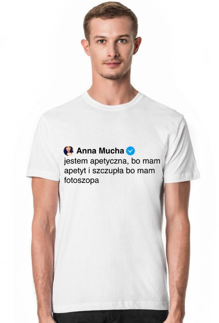 Jestem apetyczna / Anna Mucha / t-shirt slim