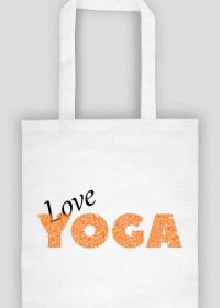 Joga torba love yoga biała
