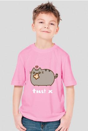 """dziecięcy T-shirt """"Pusheen"""" Wzór 2 (męski)"""