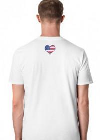KOSZULKA USA M WHITE