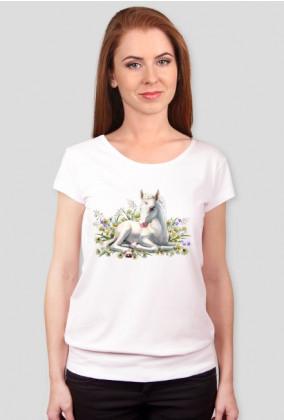 Koszulki z jednorożcem - Jednorożec na kwiatach