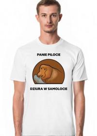 Koszulka męska, Panie pilocie dziura w samolocie