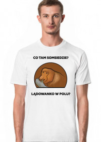 Koszulka męska, Lądowanko w polu?