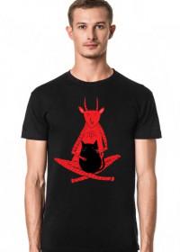 Diabeł i kot męska czarna