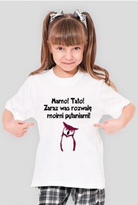 Koszulka dziecięca,sowa, śmieszne,humor