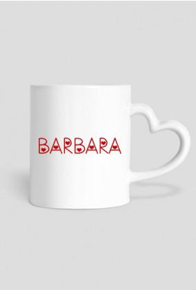 Kubek Barbara serce - Prezent dla Barbary