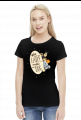 Who gets up early walks the dog - female - t-shirt