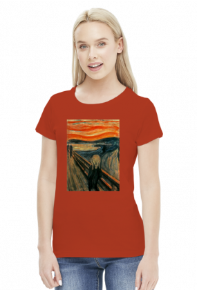 Krzyk koszulka damska