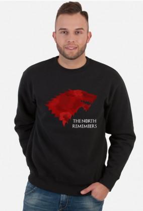 Wolf The North Remembers Gra o tron bluza męska czarna