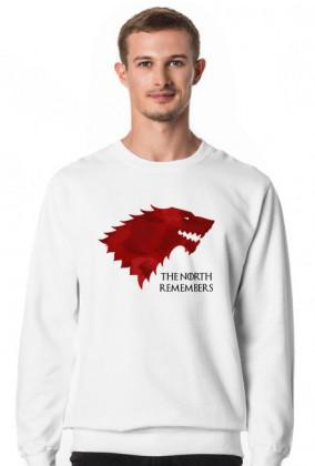 Wolf The North Remembers Gra o tron bluza męska biała
