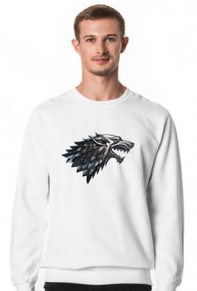Wolf Gra o tron bluza męska biała