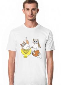 Grające sowy - koszulka męska