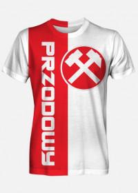 Byle na 6 - koszulka dla karlusa z serii Przodowy, czerwono-szara.
