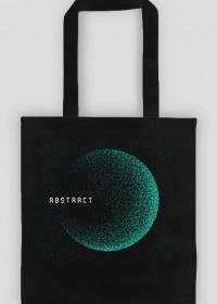 Pixel Art - napis Abstract - kosmos - gwiazdy - styl retro - torba