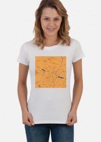Koszulka z mapą Poznania.