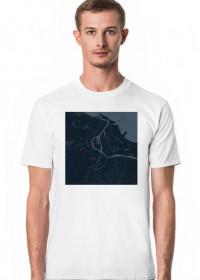 Koszulka z mapą Gdańska.