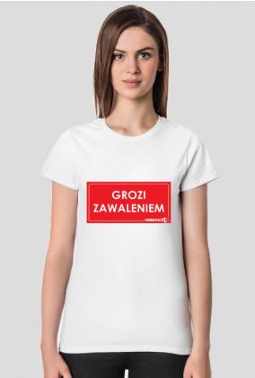 koszulka Urbex Grozi Zawaleniem damska