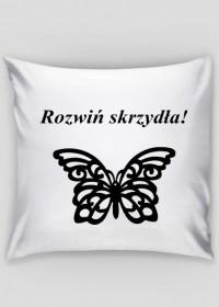 Poszewka motyl vintage - Rozwin skrzydla