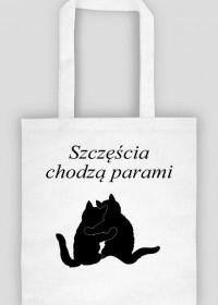 Torba koty retro - Szczescia chodza parami