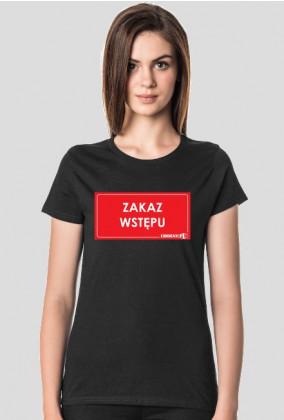 koszulka Zakaz Wstępu Urbex damska