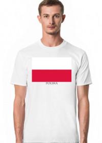 Koszulka z flagą Polski.