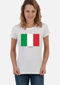 Koszulka z flagą Włoch.