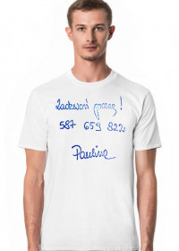 Pocztówka od Paulinki - t-shirt męski TJM