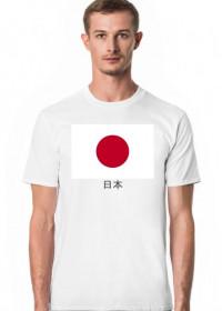 Koszulka z flagą Japonii.