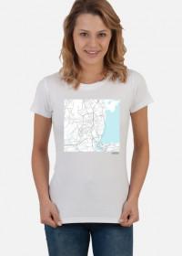 Koszulka z mapą Lagos.