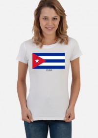 Koszulka z flagą Kuby.