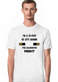 Koszulka męska, I'm a co-pilot