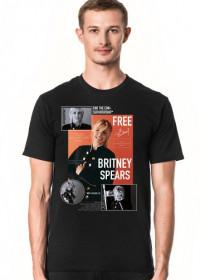 NEW COLLECTION - FREE BRITNEY - Britney Spears - koszulka czarna - unisex