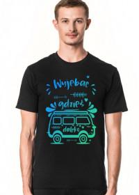T-Shirt męski - Wyjebac gdzieś daleko - WO Style - Hand Made Design