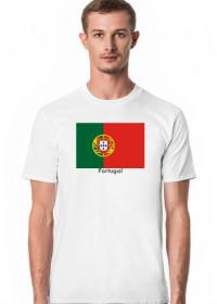 Koszulka z flagą Portugalii.