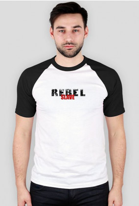 T-Shirt Rebel SLAVE Bl-Wh.